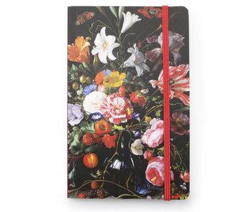 Softcover notitieboekje A6, Vaas met bloemen, De Heem