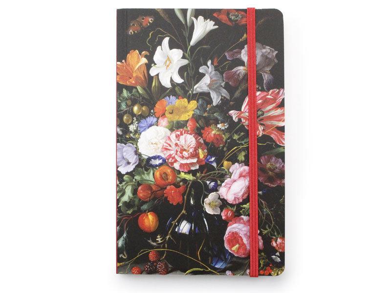 Softcover notitieboekje, Vaas met bloemen, De Heem