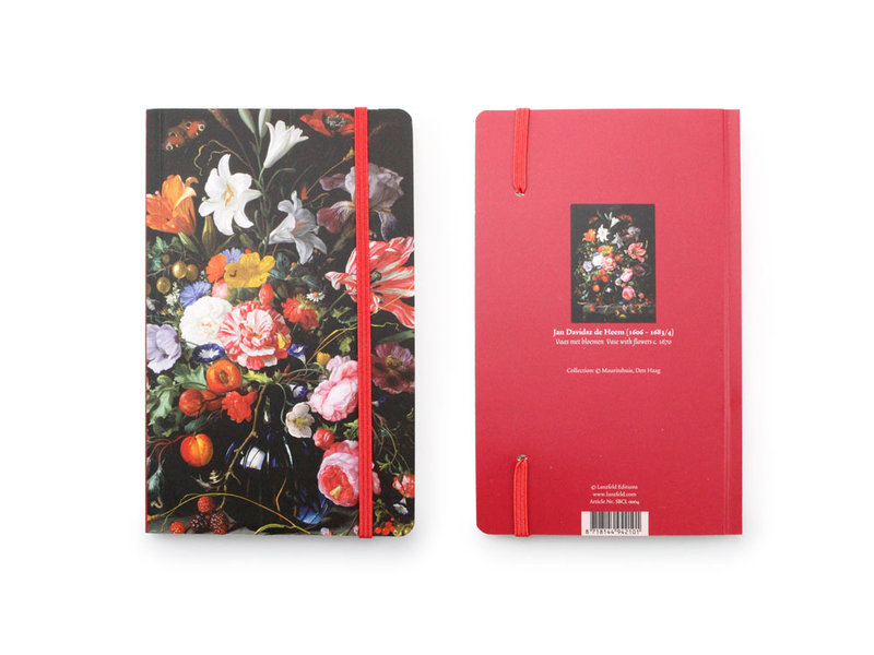 Cuaderno de tapa blanda, Florero con flores, De Heem