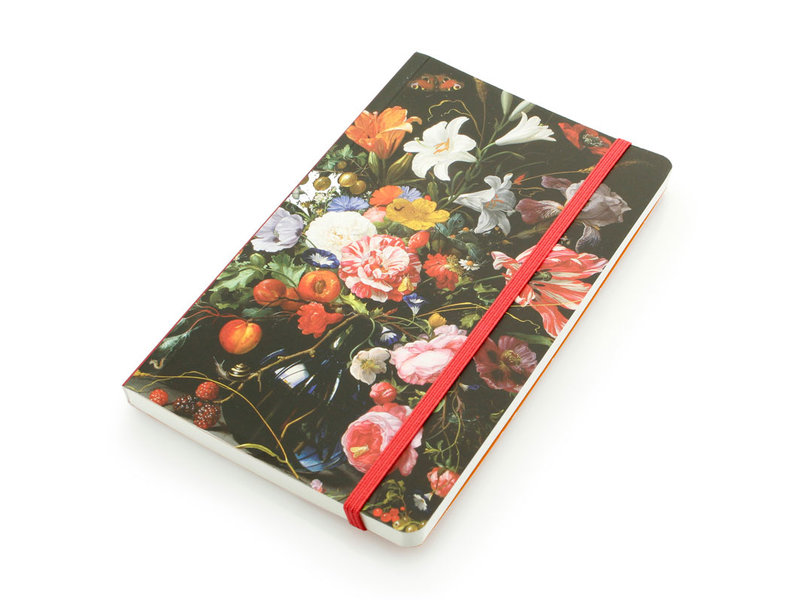 Softcover-NotizbuchA6, Vase mit Blumen, De Heem