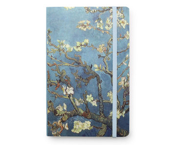 Cuaderno de tapa blanda A6, flor de almendro, Van Gogh