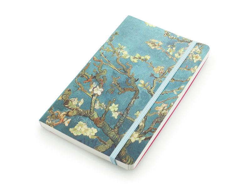 Cuaderno de tapa blanda, flor de almendro, Van Gogh