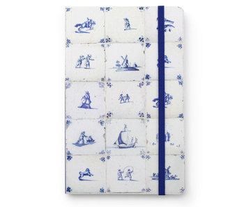 Softcover Notebook A6, Delft Blue Tiles