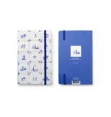 Cuaderno de tapa blanda, azulejos azules de Delft