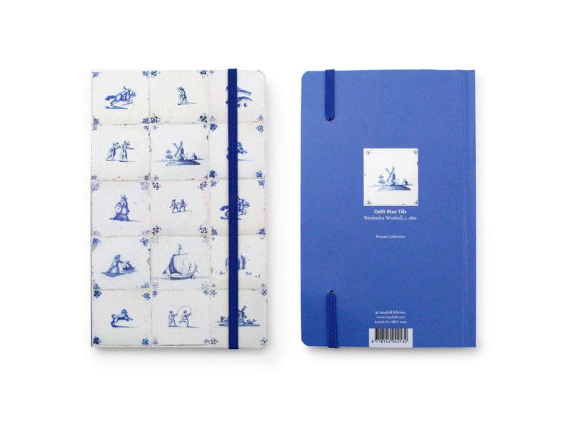 Carnet à couverture souple, carreaux bleu Delft