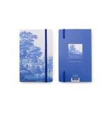 Cuaderno de tapa blanda, paisaje holandés del río en azul de Delft