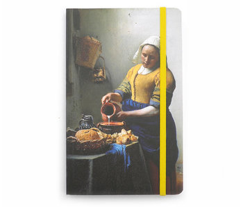 Softcover Notebook , A6  The Milk Maid, Vermeer