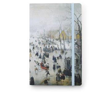 Softcover-Notizbuch A6, Winterlandschaft, Avercamp