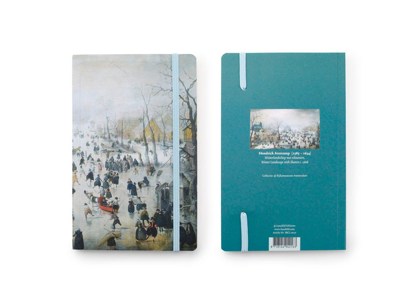 Cuaderno de tapa blanda, Paisaje invernal, Avercamp