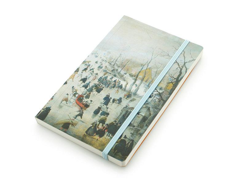 Softcover-Notizbuch, Winterlandschaft, Avercamp