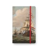 Carnet à couverture souple, Navires en mer 1689, Van de Velde