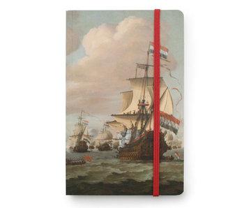 Softcover notitieboekje A6, Schepen op zee 1689, Van de Velde