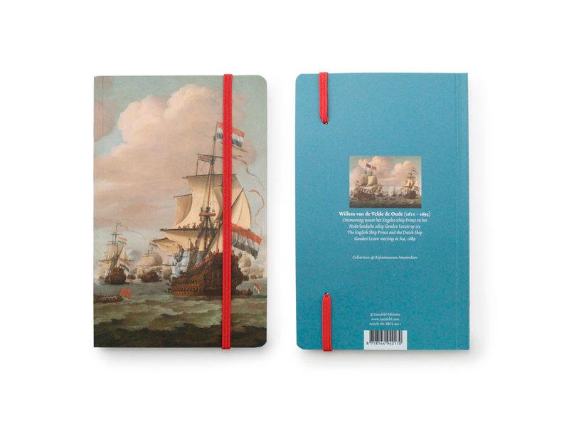 Softcover-Notizbuch, Schiffe auf See 1689, Van de Velde