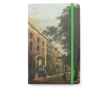 Softcover notitieboekje A6, Zicht op de Herengracht, Keun