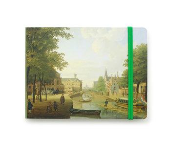 Skizzenbuch, Blick auf den Houtmarkt in Amsterdam, Keun