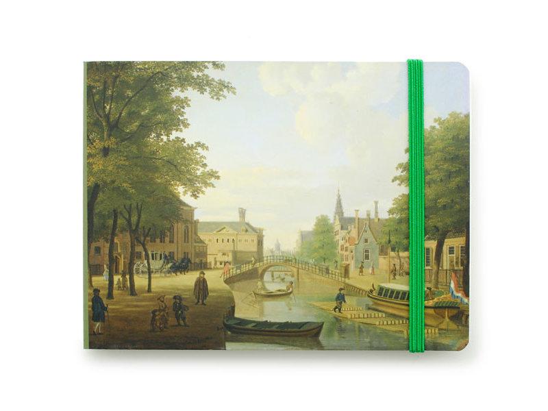 Carnet de croquis, vue sur le Houtmarkt à Amsterdam, Keun