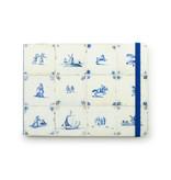 Carnet de croquis, tuiles bleues de Delft