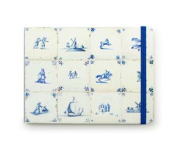Cuaderno de bocetos, azulejos azules de Delft