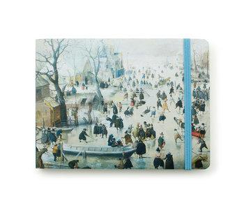 Carnet de croquis, paysage d'hiver, Avercamp