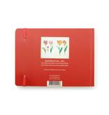 Cuaderno de bocetos, cuatro tulipanes con insectos, Marrel