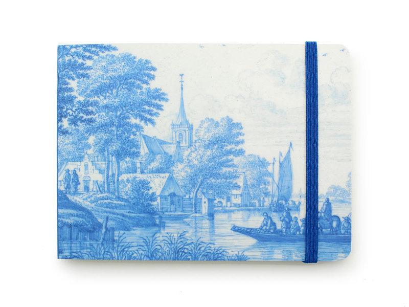 Carnet de croquis, Dutch Riverside Scene Delft Blue, Frytom