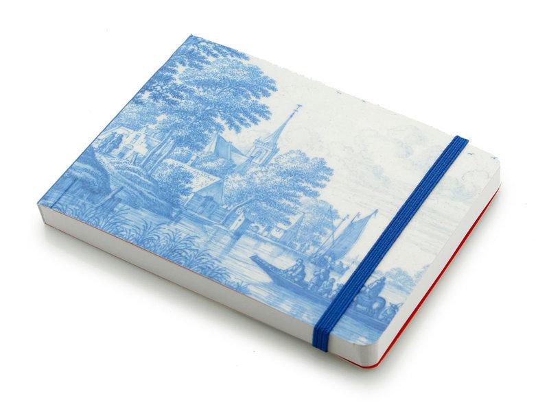Schetsboekje, Hollands rivierenlandschap in Delfts blauw, Frytom