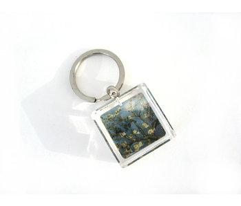 Llavero en caja de regalo, flor de almendro, Van Gogh