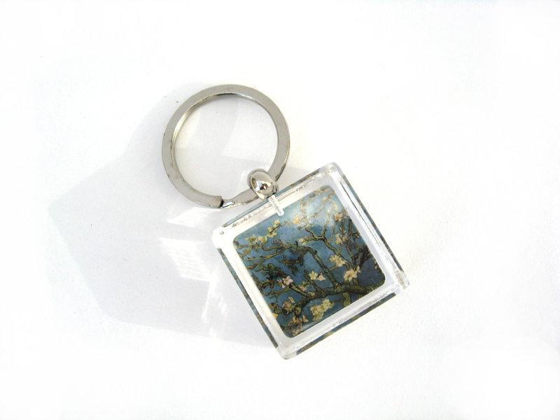 Sleutelhanger in geschenkverpakking, Amandelbloesem, Van Gogh