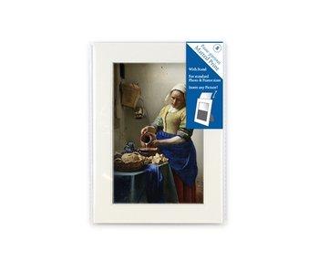 Matted prints, S, 18 x 12.8 cm, Vermeer, Milkmaid