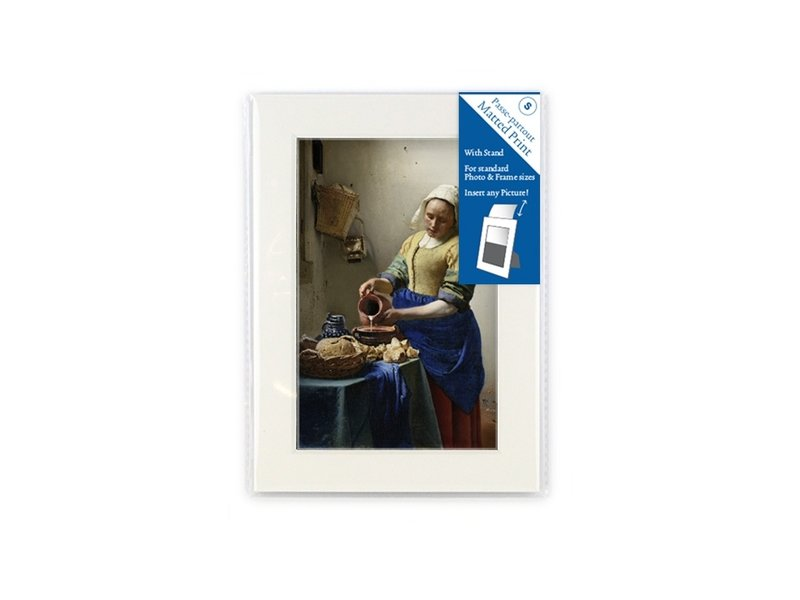 Passe-partout, S, 18 x 12.8 cm, Vermeer, Melkmeisje