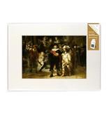 Passe-partout avec reproduction, L, De Nachtwacht, Rembrandt