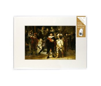 Passe-partout con reproducción, L, De Nachtwacht, Rembrandt