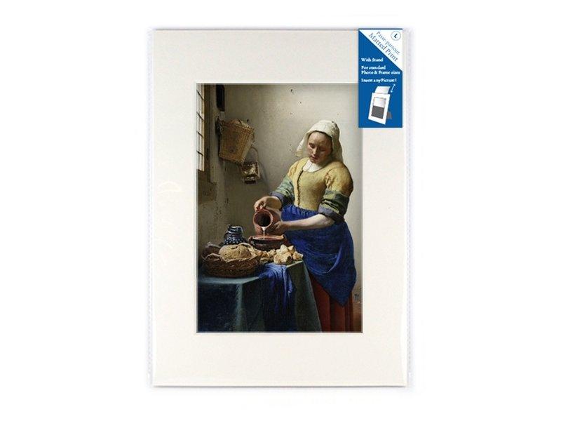 Passe-partout ,  L,  29.7 x 21 cm , Het melkmeisje