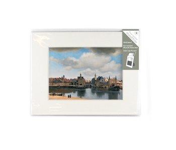 Passe-partout , M , 24 x 18 cm,  Gezicht op Delft