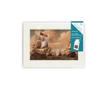 Matted prints  with reproduction, S, Ships at sea, Van de Velde