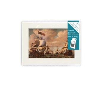 Passe-Partout mit Reproduktion, S, Schiffe auf See, Van de Velde