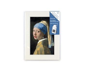 Passe-partout, S, 18 x 12.8 cm, Chica con un arete de perla, Vermeer
