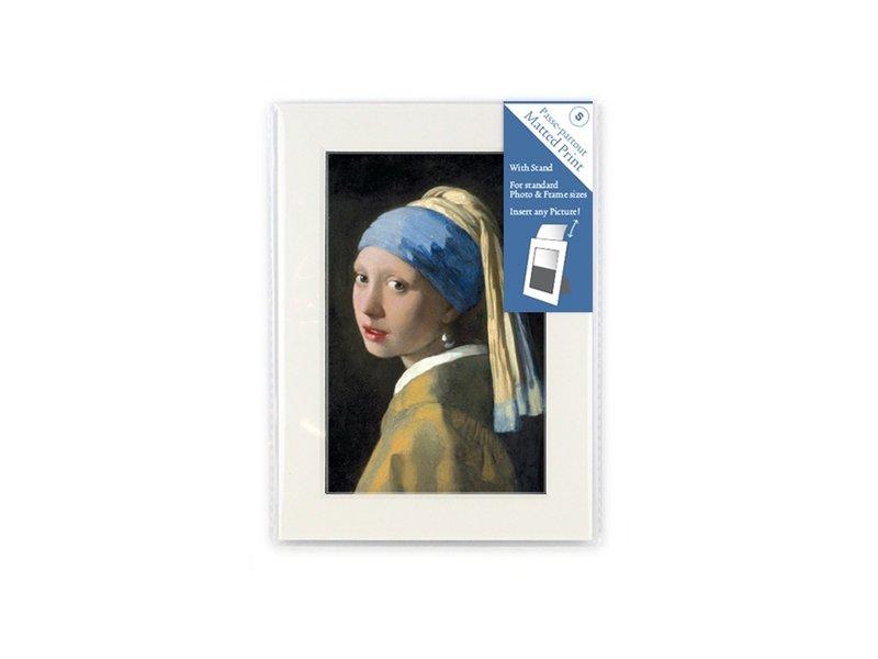 Passe-partout, S, 18 x 12,8 cm, Fille avec une boucle d'oreille en perle