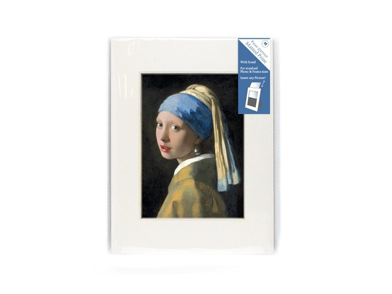 Passe-Partout, M, 24 x 18 cm, Mädchen mit Perlenohrring