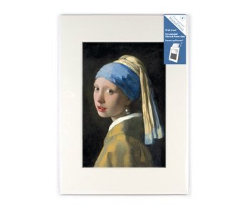 Matted prints, L, 29.7 x 21 cm, Girl with a pearl earring