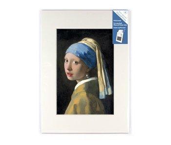 Passe-partout, L,  29.7 x 21 cm, niña con arete de perla, Vermeer