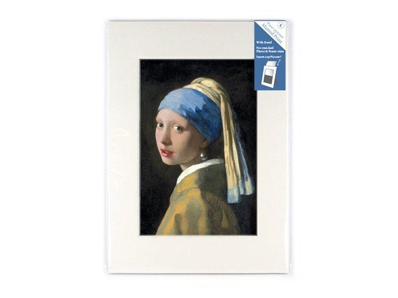 Passe-partout, L,  29,7 x 21 cm, Mädchen mit Perlenohrring