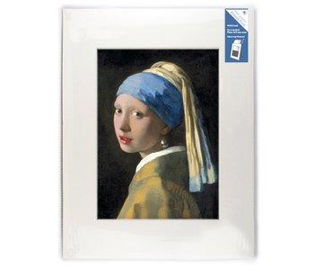 Passe-partout, XL, 40 x 30 cm, Fille avec une boucle d'oreille en perle, Vermeer