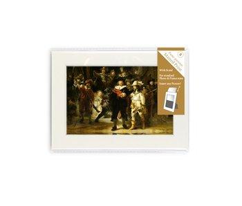 Passe-partout met reproductie, S, De Nachtwacht, Rembrandt