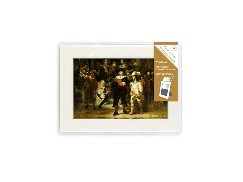 Matted prints with reproduction, S, De Nachtwacht, Rembrandt