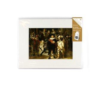 Passe-partout met reproductie, M, De Nachtwacht, Rembrandt