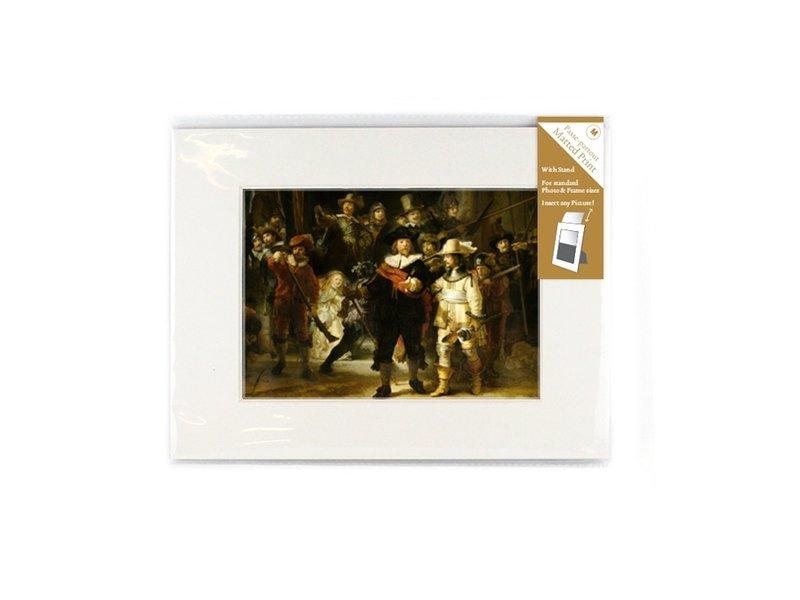 Passe-partout avec reproduction, M, De Nachtwacht, Rembrandt