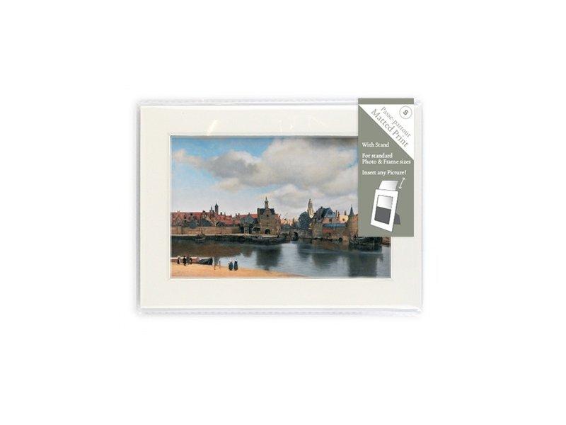 Passe-partout, S, 18 x 12.8 cm, Vista de Delft