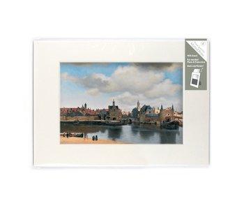 Passe-partout, L , 29.7 x 21 cm , Gezicht op Delft