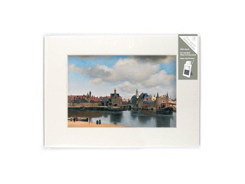 Passe-partout, L, 29,7 x 21 cm, vue de Delft